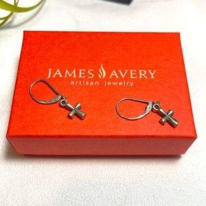 James Avery St. Teresa cross earrings silver 925